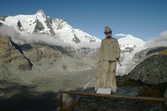 Statue and Grossglockner Stock Images