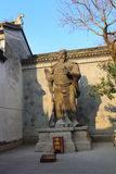 The statue of Guan Yu in China ,wuzhen Water Village,Memorial Gateway Royalty Free Stock Images