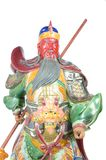 Statue Of Guan Yu (God of honor) on white background Royalty Free Stock Photo