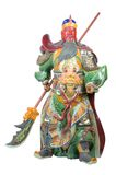 Statue Of Guan Yu (God of honor) on white background Royalty Free Stock Images