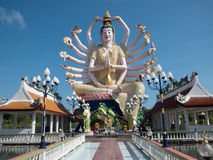 Statue of Guanyin December 2015 Thailand Stock Photos