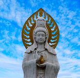 Statue of Guanyin goddess stock photography