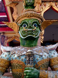 Statue of Guardian at a Thai temple Stock Image