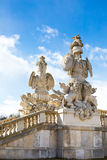 Statue of guardians at Gloriette in Schonbrunn Royalty Free Stock Images