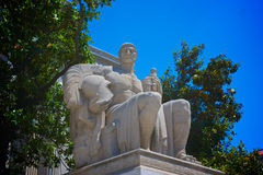 Statue of Guardianship at National Archives Royalty Free Stock Image