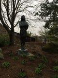 Statue Guarding The Garden Stock Photos