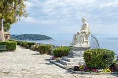 Statue of Guilford in the Boschetto Park in Corfu Town Stock Photo
