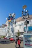 Statue of Gundam at DivercCity Tokyo Plaza in Tokyo. ODAIBA - TOKYO, JAPAN - 17 February 2017: Statue of Gundam at DivercCity Tokyo Plaza in Tokyo. It is ratio Stock Photos