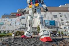 Statue of Gundam at DivercCity Tokyo Plaza in Tokyo. ODAIBA - TOKYO, JAPAN - 17 February 2017: Statue of Gundam at DivercCity Tokyo Plaza in Tokyo. It is ratio Royalty Free Stock Photo