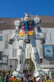 Statue of Gundam at DivercCity Tokyo Plaza in Tokyo. Stock Photos