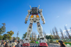 Statue of Gundam at DivercCity Tokyo Plaza in Tokyo. Royalty Free Stock Image