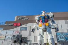 Statue of Gundam at DivercCity Tokyo Plaza in Tokyo. Royalty Free Stock Photo