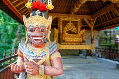 Gunung Kawi Sebatu Temple Statue. A statue in the Gunung Kawi Sebatu Temple near Ubud in Bali Royalty Free Stock Image