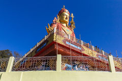 Statue of Guru Rinpoche, the patron saint of Sikkim that view from below in Guru Rinpoche Temple at Namchi. Sikkim, India Stock Photos