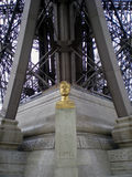 The statue of Gustave Eiffel, Paris, France Stock Photos