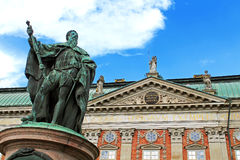 Statue of Gustavo Erici in front of Riddarhuset, Stockholm, Sweden Stock Photography