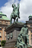 Statue of Gustavus Adolphus Stock Images