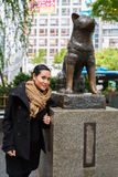 Statue of Hachiko - Shinjuku, Tokyo, Japan Royalty Free Stock Photography