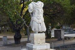Statue hadrian d'empereur images libres de droits