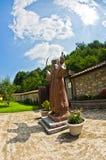 Statue of Hadzi Milentije, uprising leader against Ottoman empire. Rača monastery yard, west Serbia Stock Photo
