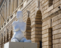 Statue of handiocapped woman by Alison Lapper in Verona Royalty Free Stock Image