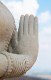 Statue with hands clasped Royalty Free Stock Image