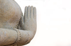 Statue with hands clasped Royalty Free Stock Images