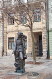 Statue of Hans Christian Andersen. On Hviezdoslav square (Hviezdoslavovo namestie) in Bratislava, Slovakia Royalty Free Stock Photos