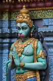 A statue of Hanuman, the Hindu Monkey God on the exterior wall of the Sri Krishnan Temple (Hindu) in Singapore. Stock Photography