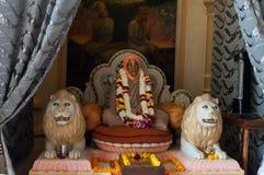 Statue of Hare Krishna in Sri Krishna-Balaram Temple Royalty Free Stock Photo