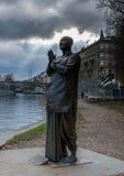Statue of harmony. In Prague on Kampa Island Stock Photography