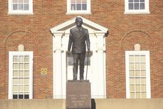 Statue of Harry S. Truman at the entrance to the Independence, MO Courthouse Stock Photography