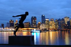 Statue of Harry Winston Jerome, Vancouver, Canada Royalty Free Stock Image