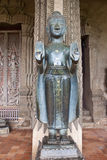 Statue at Haw Pha Kaew temple Stock Photo
