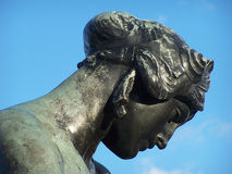 Statue head. Lovely bronze statue head near Buckingham palace Royalty Free Stock Images
