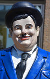 Statue of Heavyset American Oliver Hardy. GRANBY QUEBEC CANADA 07 24 17: Statue of Heavyset American Oliver Hardy 1892–1957 was an American comic actor royalty free stock images