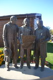 Statue of Heber C. Kimball  Brigham Young and Willard Richards Royalty Free Stock Images