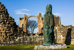 Statue in heiligen Inseln Lizenzfreie Stockfotos