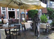 The statue of Heini Holtenbeen, Schnoor Quarter, Bremen, Germany Stock Image