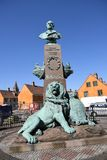 STATUE OF HELOLAND 9 MAY 1864. Copenhagen/Denmark 23.May 2018_Statue of Helgoland 9 may 1864 in danish capital .       Photo.Francis Joseph Dean / Deanpictures Royalty Free Stock Photography
