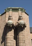 Statue-Helsinki-hauptsächlichbahnhof Finnland Lizenzfreie Stockbilder