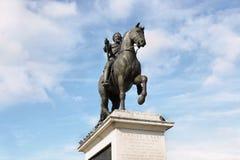 Statue Henrici Magni nahe Pont Neuf in Paris, Frankreich stockfoto