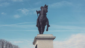The Statue of Henry IV on the Pont Neuf stock footage