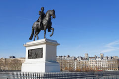 Statue of Henry IV on The Pont Neuf Royalty Free Stock Photography