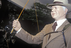 Statue of Herbert Hoover With Fishing Rod, West Branch, Iowa Stock Images
