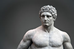 Statue of Hercules. Ancient Roman statue of young Hercules
