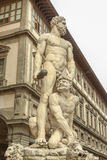 Statue of Hercules and Cacus by Baccio Bandinelli. Royalty Free Stock Photo