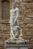 Statue of Hercules and Cacus by Baccio Bandinelli. Royalty Free Stock Photography