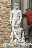 Statue Hercules and Cacus front of the museum Palazzo Vecchio Stock Photography