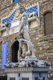 Statue of Hercules and Cacus in front of the Palazzo Vecchio Royalty Free Stock Photography